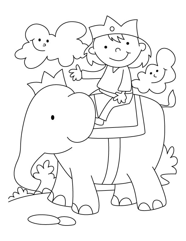 baby elephant coloring pages print - photo#47