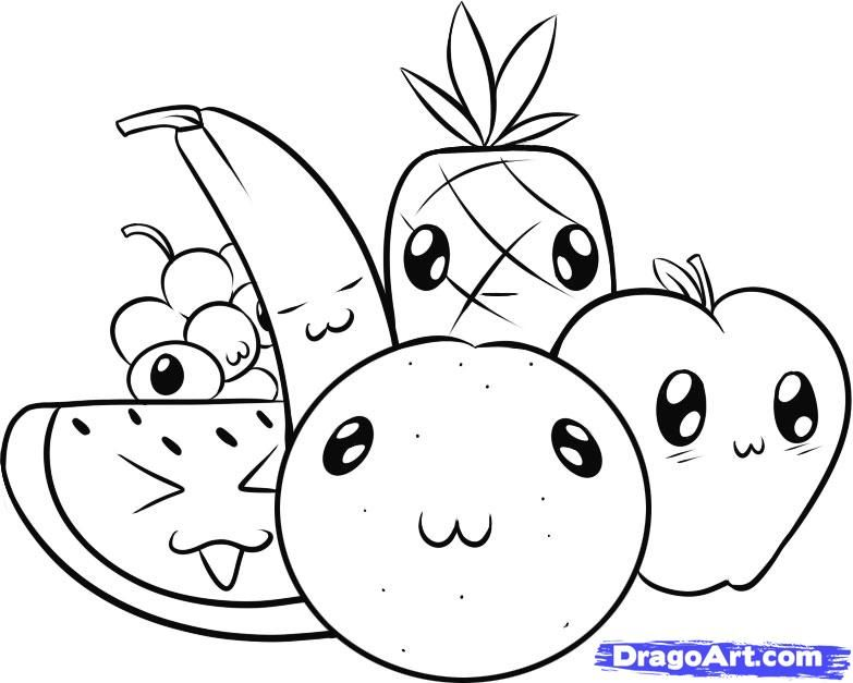 baby coloring food pages - photo #42