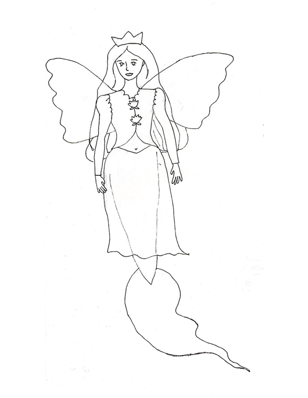 mermaid and fairy coloring pages - photo#24