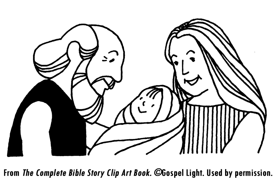 baby isaac bible coloring pages - photo#20