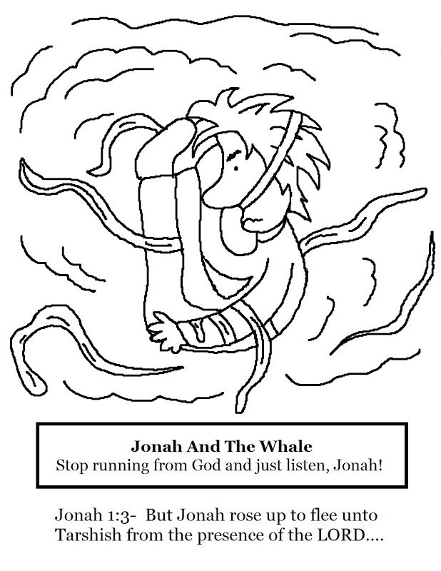 jonah and fish coloring pages - photo#25