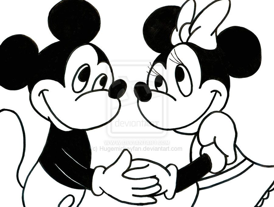 Mickey Mouse And Minnie Mouse Drawings