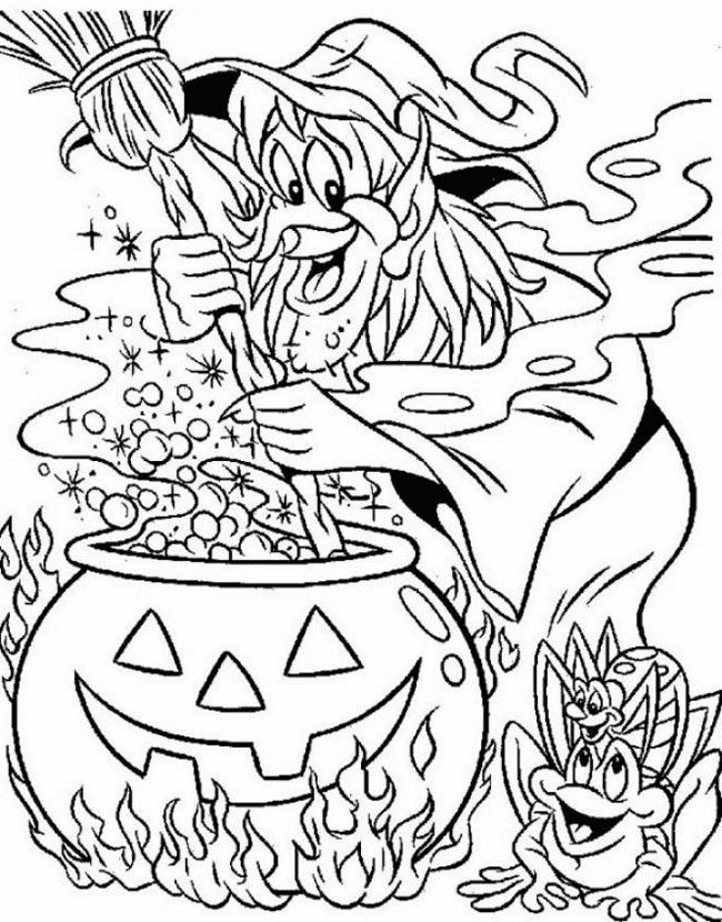 Difficult Halloween Coloring Pages Coloring Home