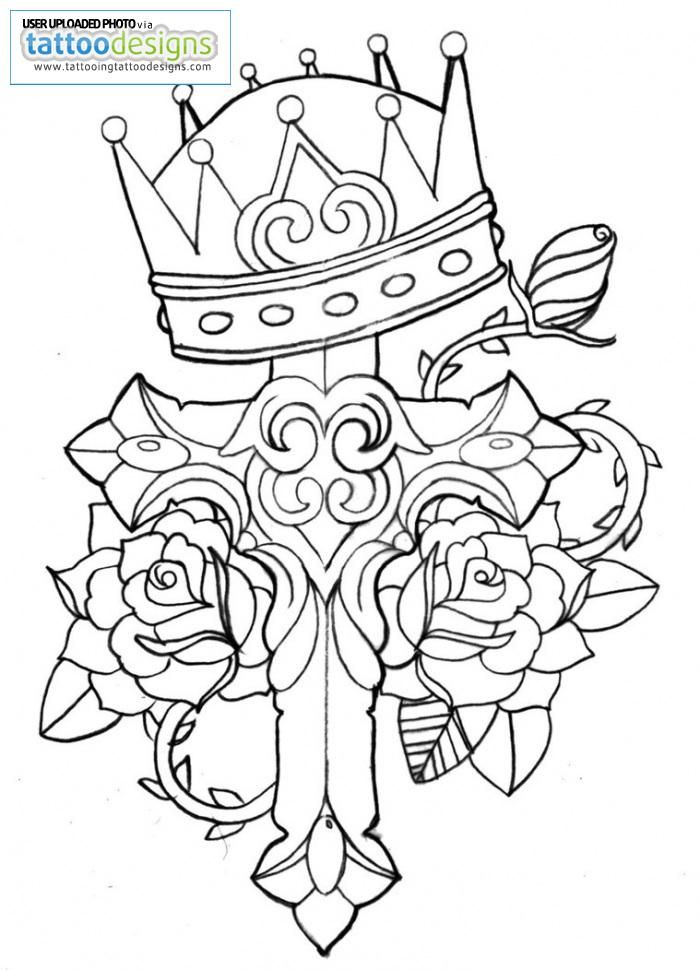Coloring Pages Of Crosses And Roses Images Amp Pictures