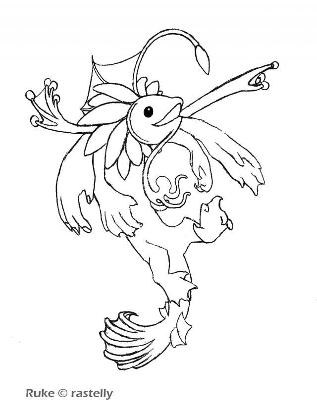 Squid Coloring Page Coloring Home