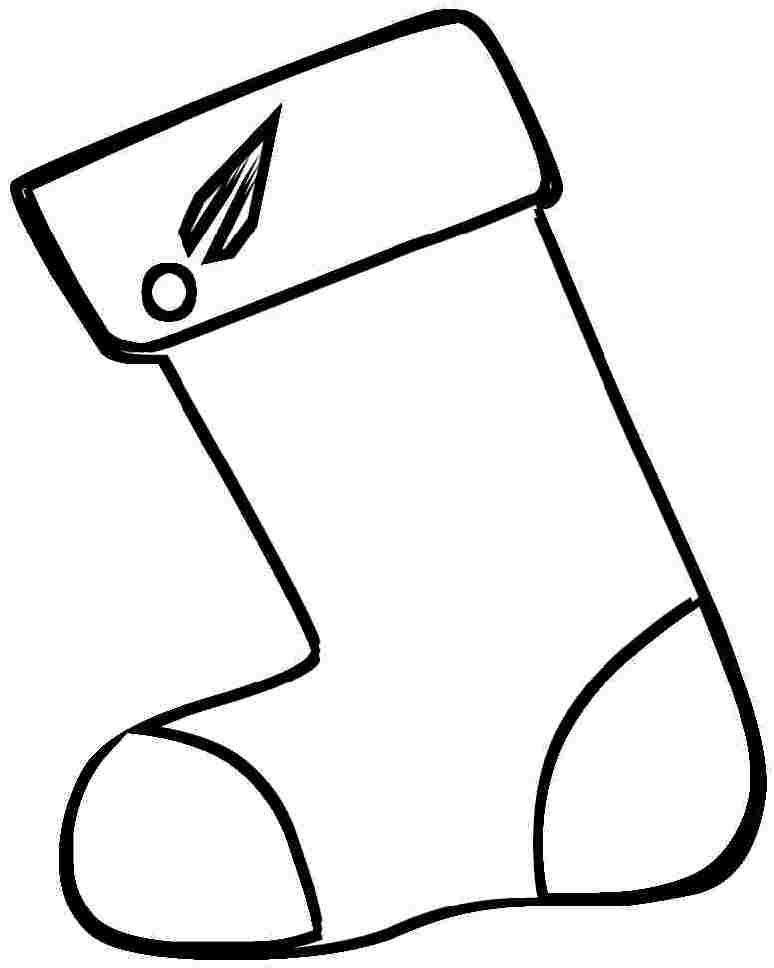 ... Stocking Colouring Pages For Kindergarten - # - AZ Coloring Pages