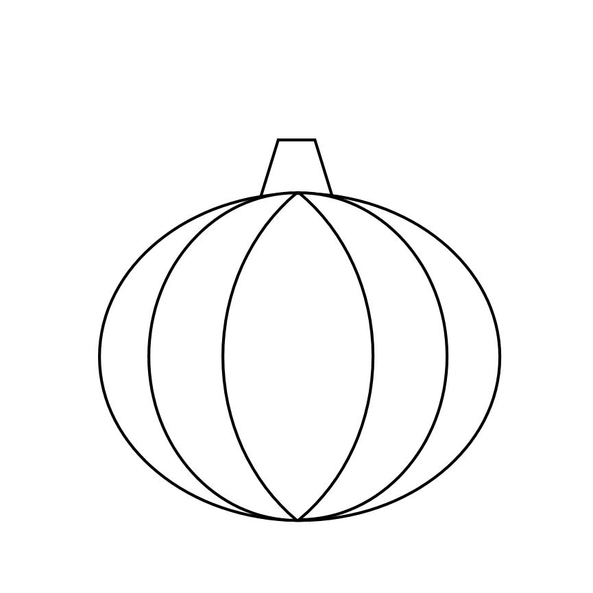 Printable Pumpkin Outline - Coloring Home