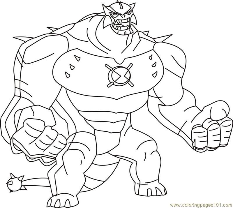 Color Ben10 Coloring Home