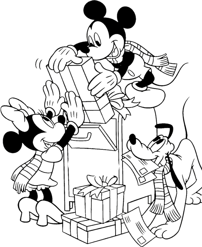 Coloring Pages Mickey Mouse Christmas : Mickey mouse christmas coloring pages home