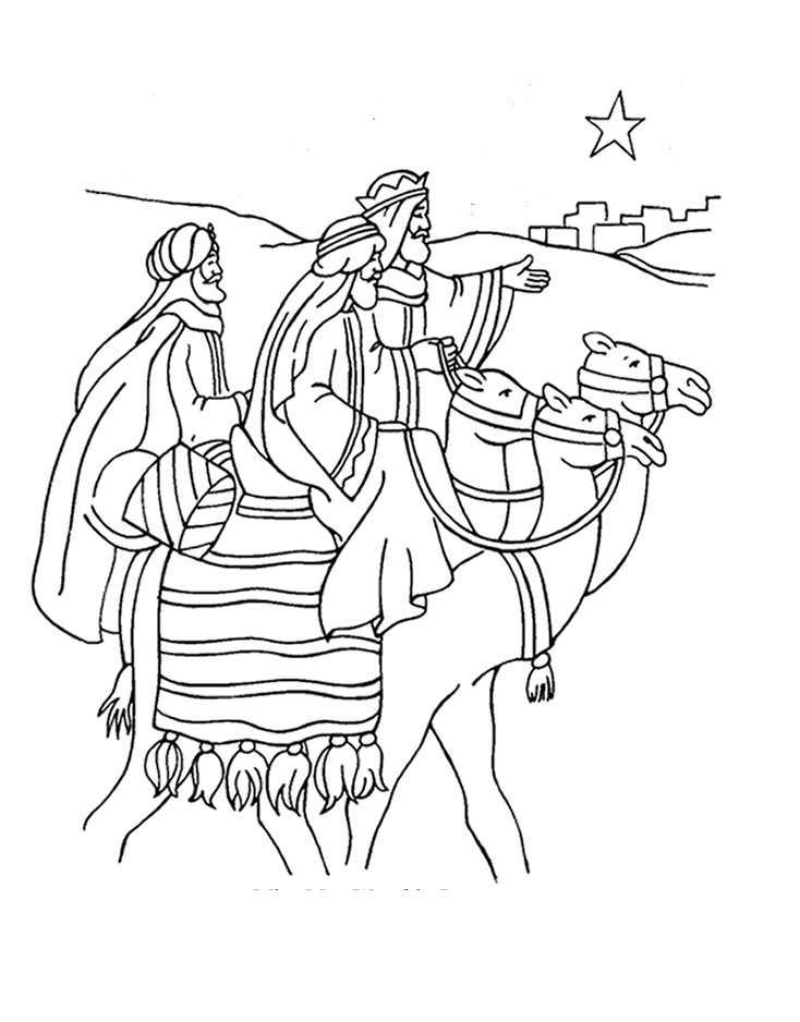 The Three Wise Men Day Coloring Pages For Kids : Coloring Kids
