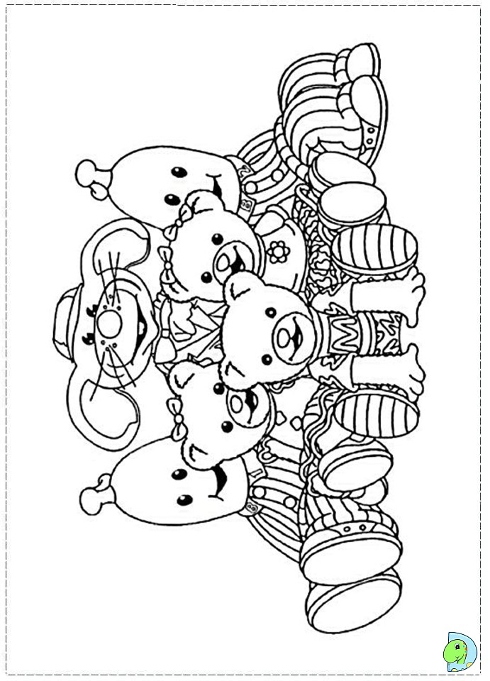 bananas and pajamas Colouring Pages (page 2)