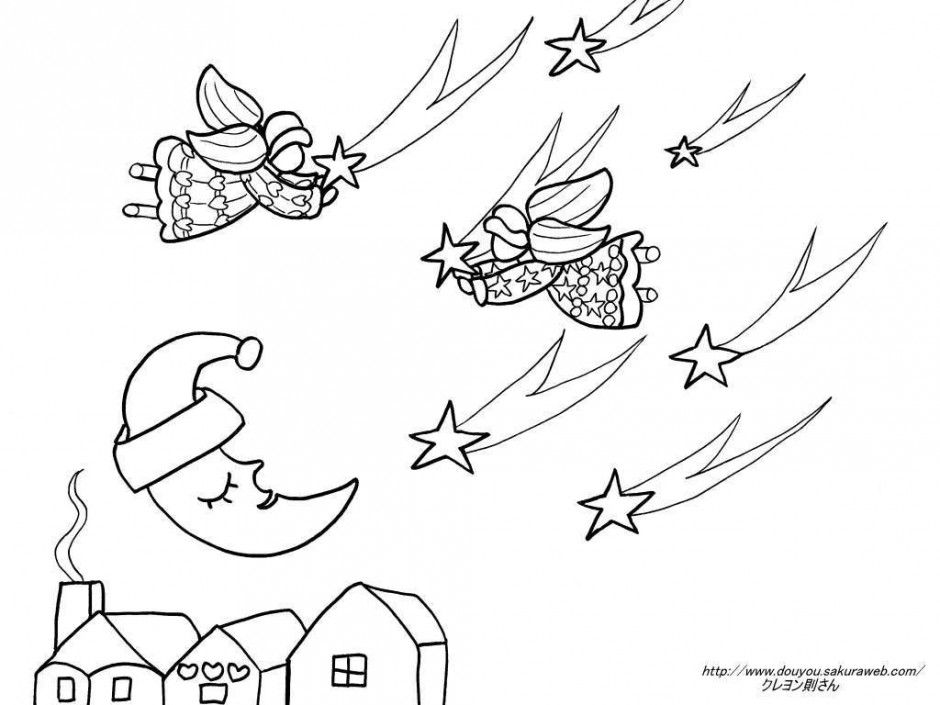 Twinkle Twinkle Little Star Coloring Pages