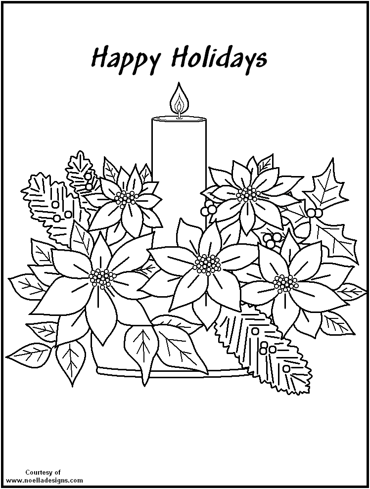 pointsettas coloring pages - photo#25