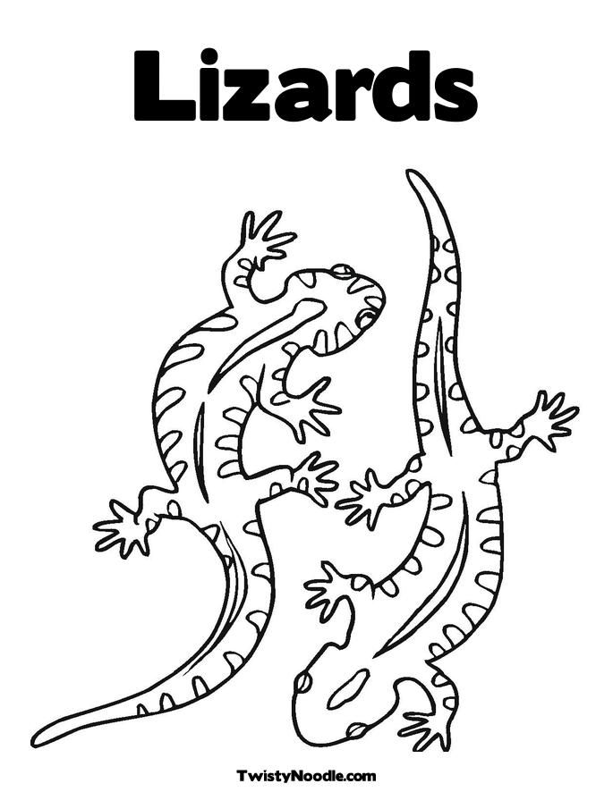 Reptiles Coloring Pages