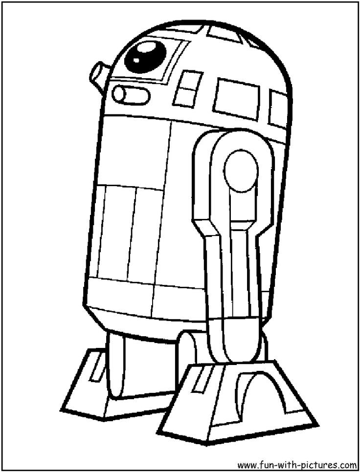 r2d2 from starwars  Cartoon Lego Star Wars R2d2 Coloring Pages
