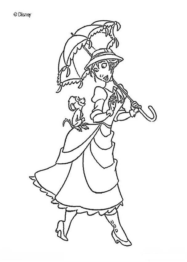 Tarzan and jane coloring pages coloring home for Tarzan coloring pages