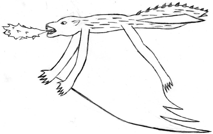 monster sketch: mutant flying squirrel by peacekid4 on deviantART