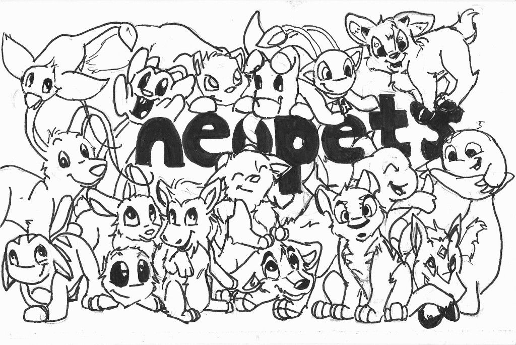 Coloring Pages Of Neopets