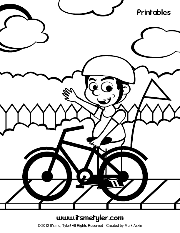 Preschool Bike Safety Coloring Pages Coloring Pages Bike Safety Coloring Pages
