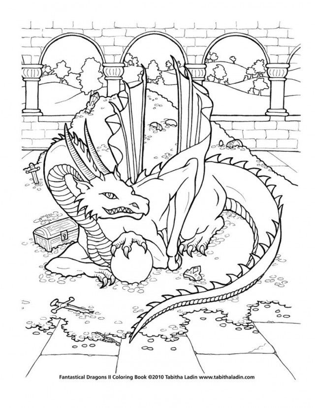 gargoyle coloring pages - photo#23