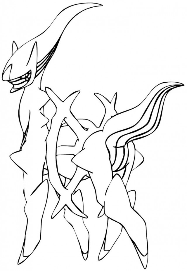 Pokemon arceus coloring pages az coloring pages for All pokemon coloring pages