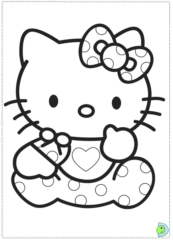 Hello kitty p az coloring pages for Printable coloring pages for kids hello kitty