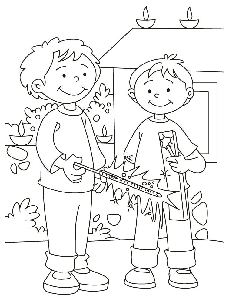 Diwali coloring pages for kids coloring home for Free diwali coloring pages
