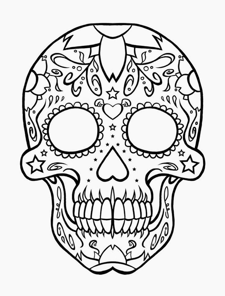 Skull crossbones coloring pages az coloring pages for Coloring pages skull