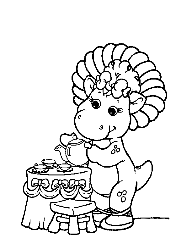 Baby bop coloring pages az coloring pages for Baby bop coloring pages