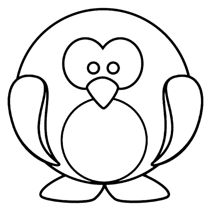cute penguin coloring pages - photo#14