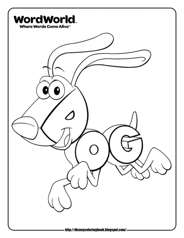 Disney Coloring Pages For Kindergarten : Disney coloring pages and sheets for kids wordworld