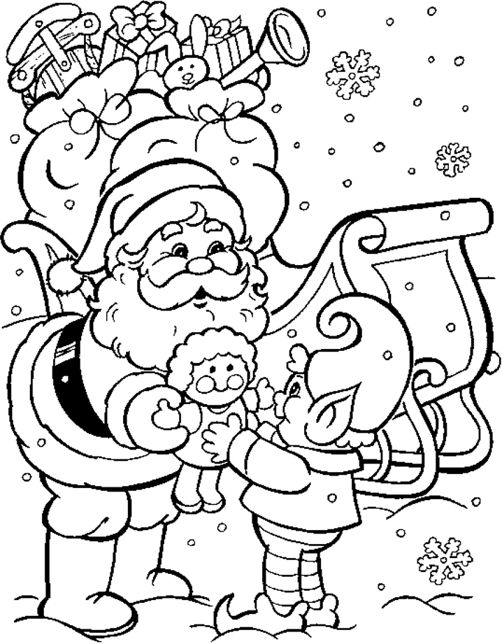 Coloring Pages For Christmas To Print Out : Print out christmas coloring pages az
