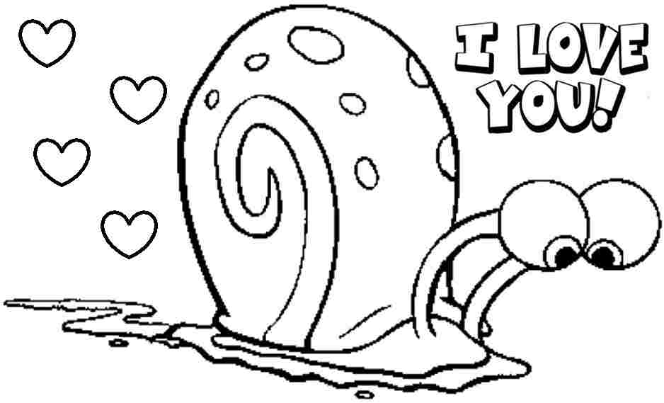 spongebob valentine day coloring pages - photo#3
