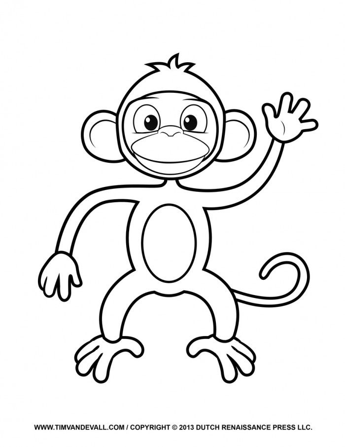 Monkey face coloring page az coloring pages for Monkey face coloring pages