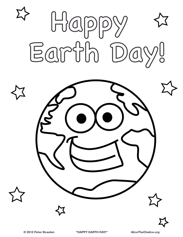 "Happy Earth Day Coloring Pages Happy Earth Day!"" Coloring"
