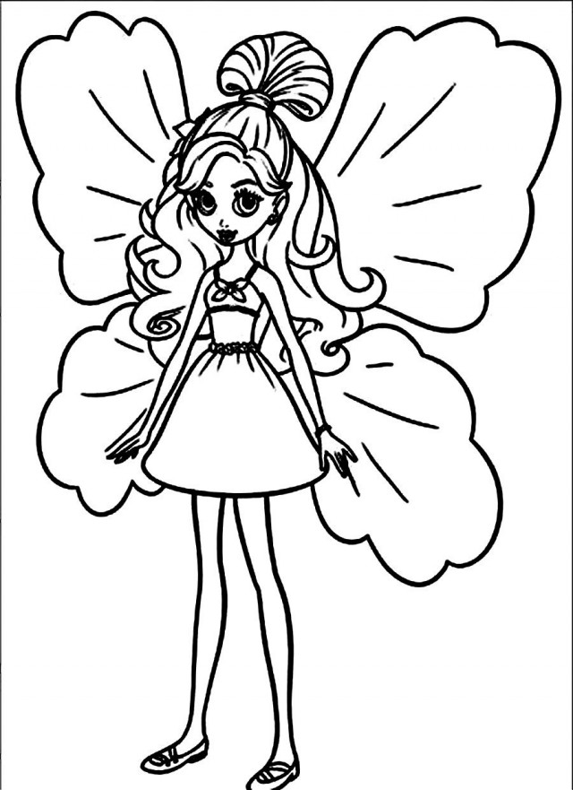barbie thumbelina coloring pages - thumbelina barbie az coloring pages