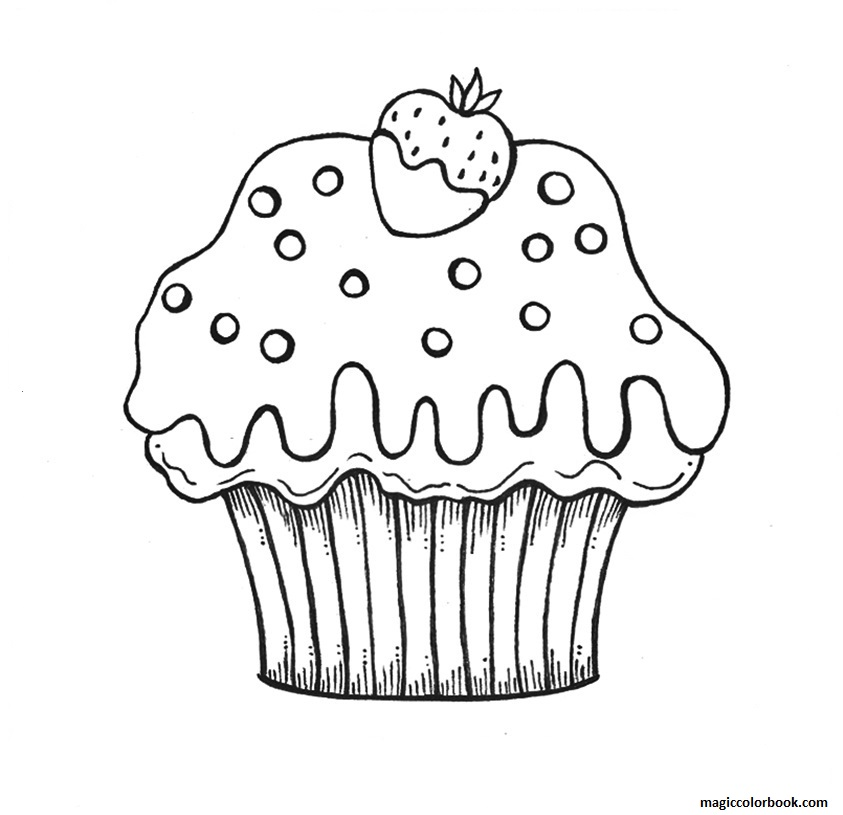 Muffin Coloring Page