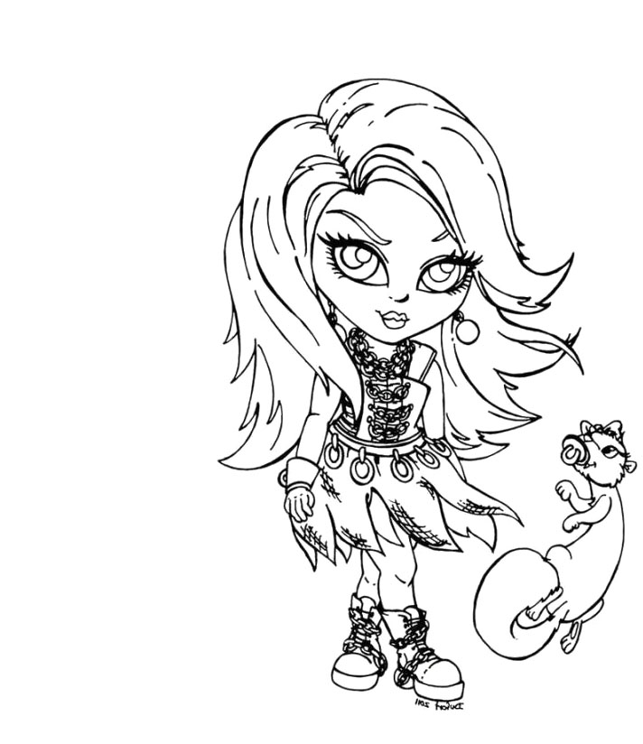 Monster High Coloring Pages All Characters Az Coloring Pages High Characters Coloring Pages