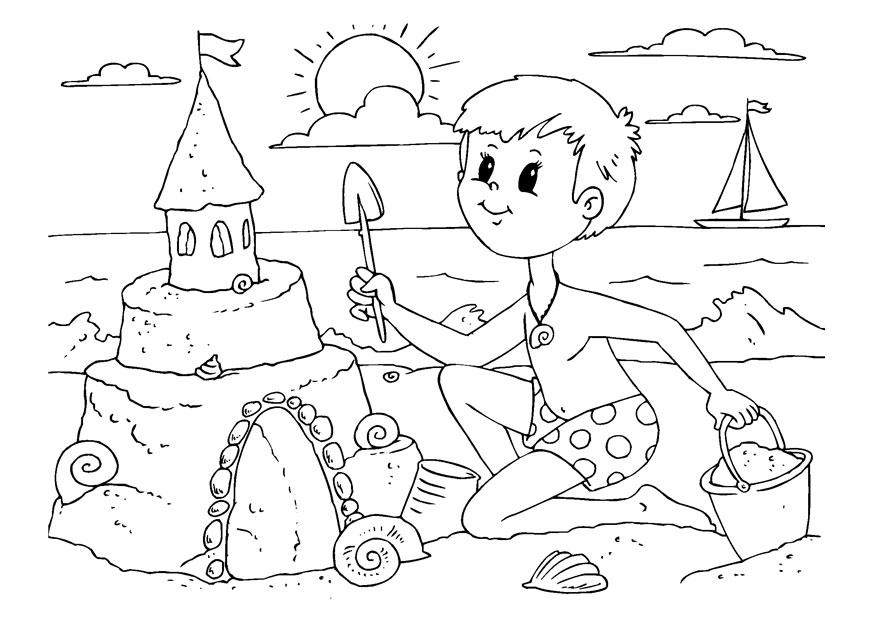 sandcastle coloring page - sand castle coloring page coloring home