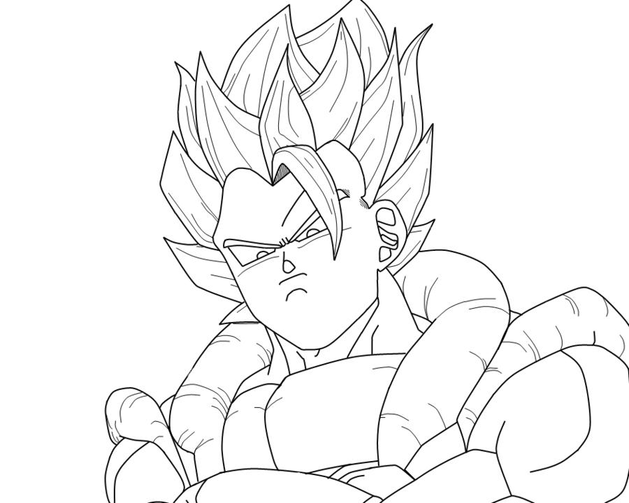Gogeta Para Colorear: Goku Super Saiyan 4 Coloring Pages