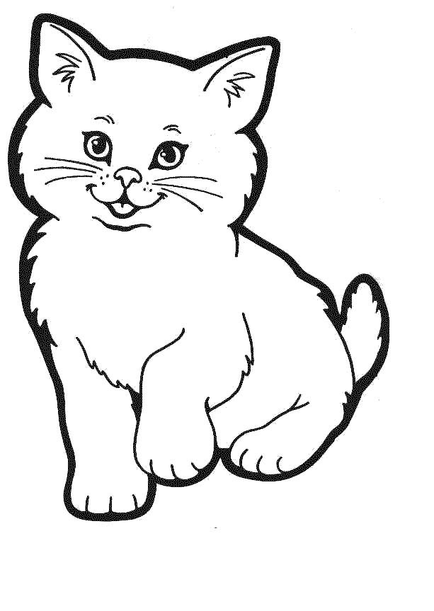 kitty kat coloring pages - photo#12