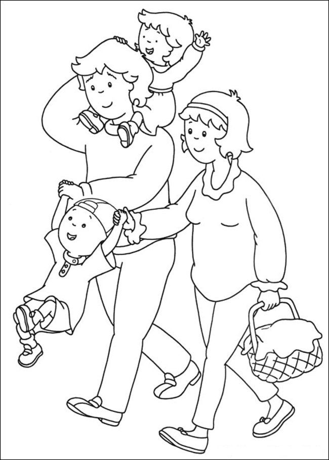 Caillou Coloring Pages Online