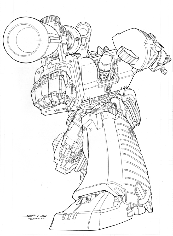 Transformer Printables Az Coloring Pages
