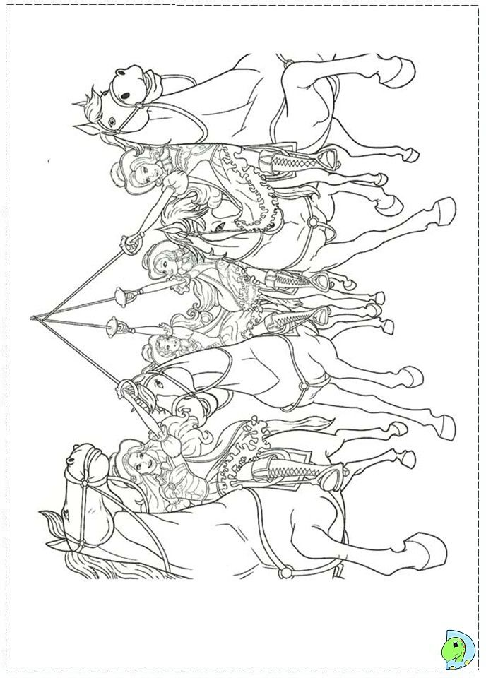 Free Coloring Pages Barbie Three Musketeers : Barbie and the three musketeers coloring pages home