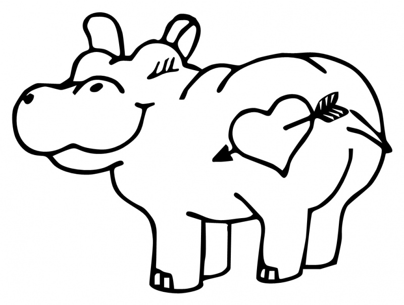 free cute hippo coloring pages