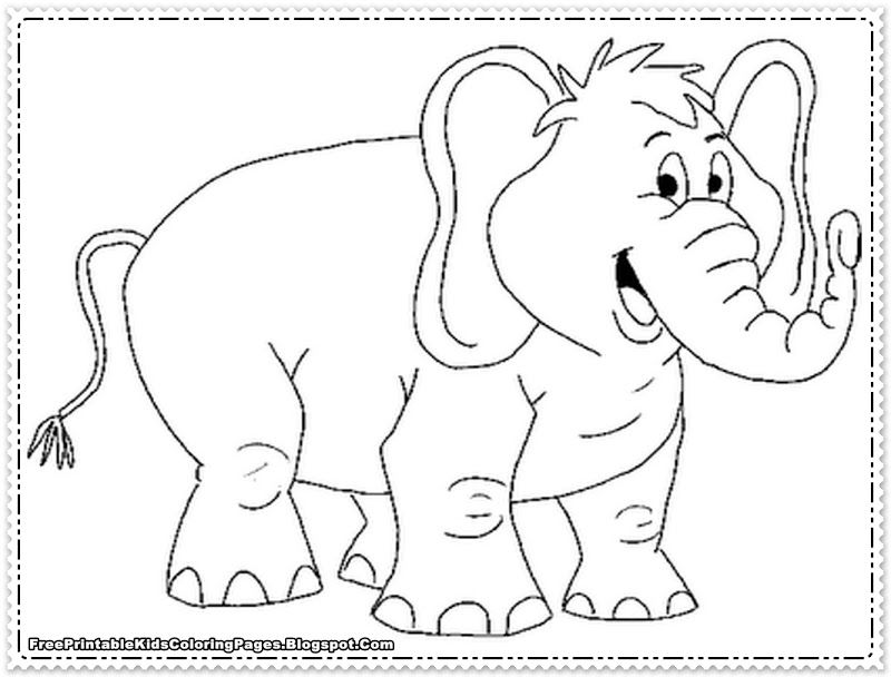 Coloring Pages Of Elephants