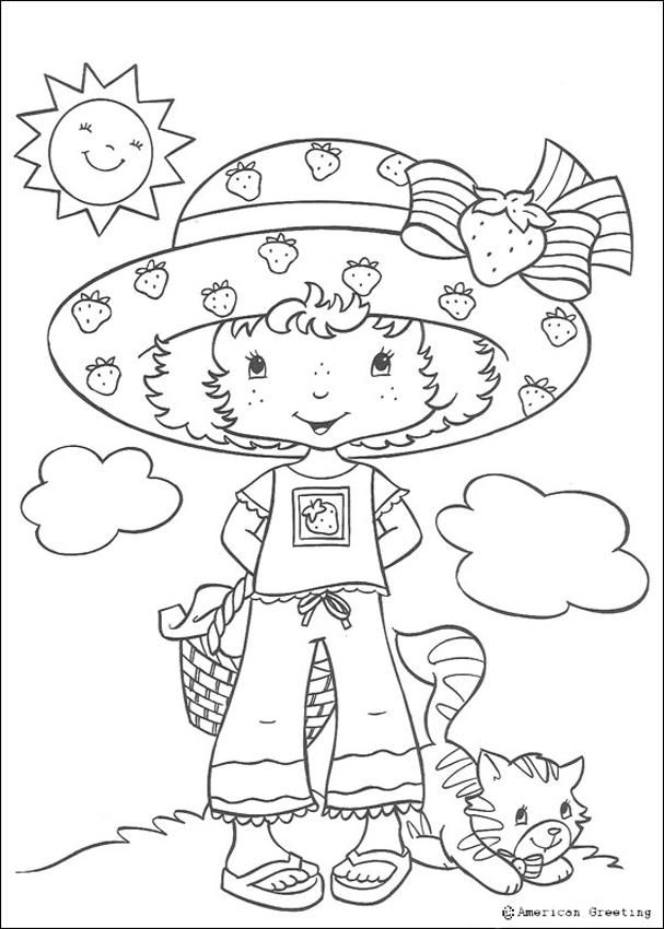 STRAWBERRY SHORTCAKE coloring pages - Strawberry Shortcake, Angel