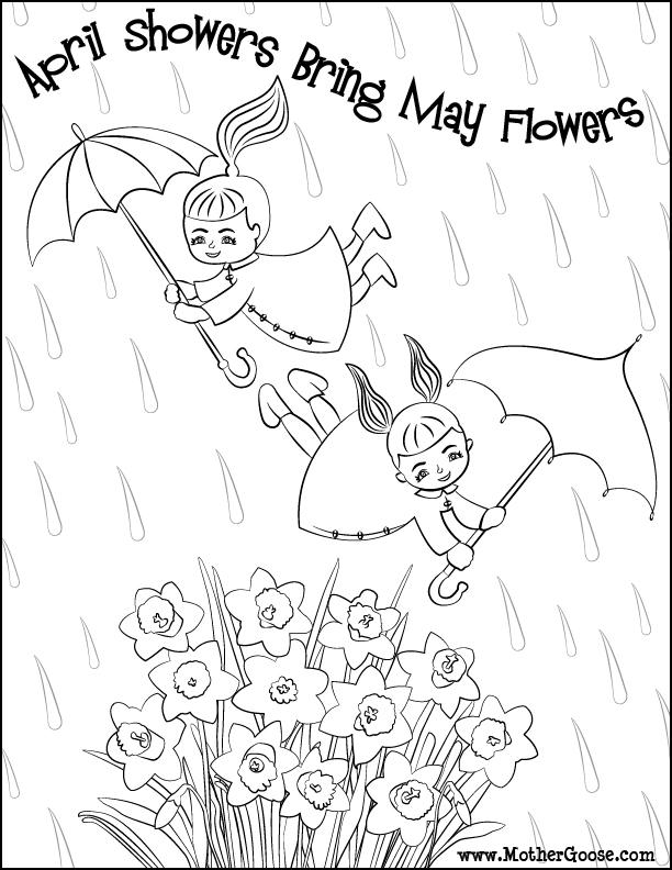 April Coloring Pages Preschool : April coloring pages for kids az