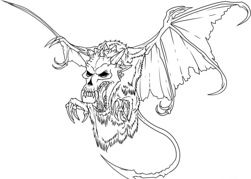Skeleton Dragon Coloring Pages - Coloring Home