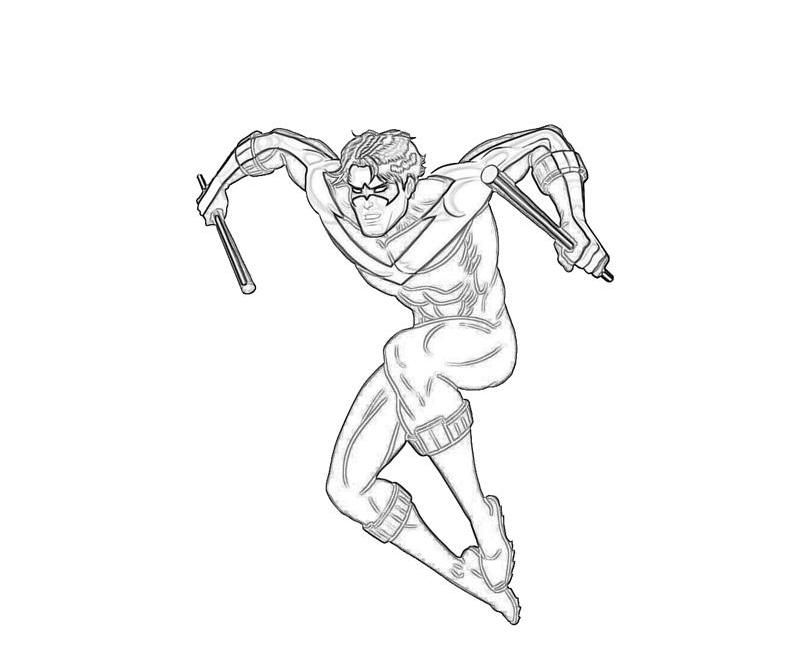 nightwing coloring pages coloring home